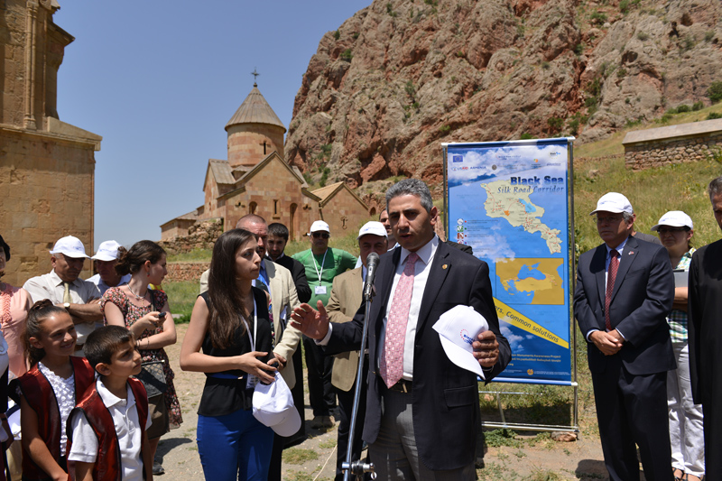 "The launch of the ""Black Sea Silk Road Corridor"" projectat the Noravank Monastery/16.07.2013"